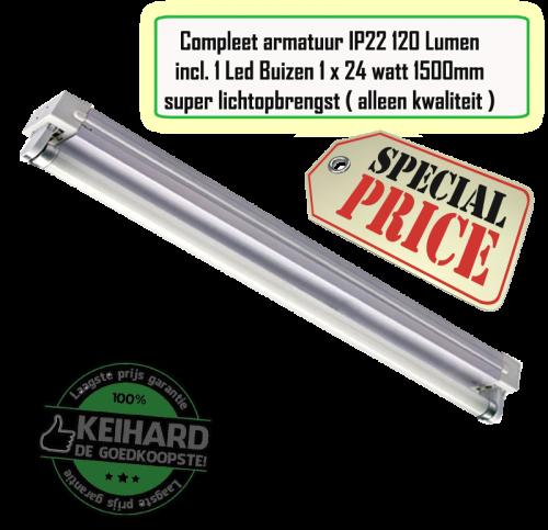 LED TL Armatuur T8 Compleet 150cm  - 7806-sll-tl-1 t8-150cm