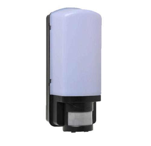 LED Wandarmatuur E27 wit PIR zwart - 8703-sll-wand arm pir sensor