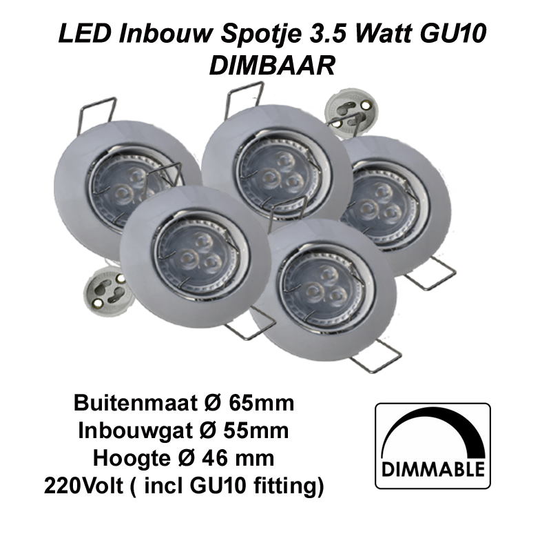 6352-sll-spotlight 3.5w gu10-compleet