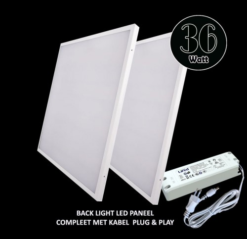 Led Paneel Backlight-595x595mm- 5000 Kelvin - 5491-sll-pan-backlight