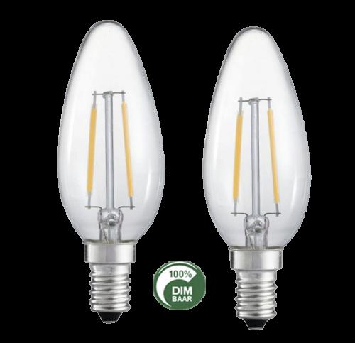 Led Lamp Filament 4W 2200K Dimbaar-E14 - 6508-sll-led-eindh-fil-4w dimbaar