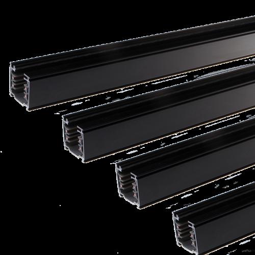 SLL-Tracklight Rail 3 Fase 1.5 meter Zwart 4 Wire - 7422-ssb150-zwart
