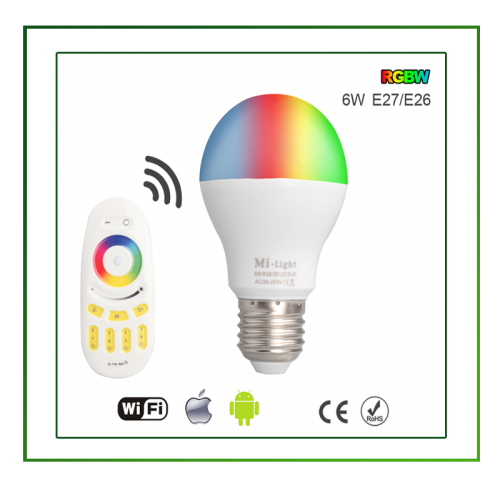 Led Lampen High Power 4W-E27-RGB-WIFI - 6405-sll-lamp-rgb-wifi