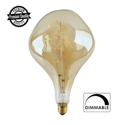 LED FILAMENT E27 ET DIMBAAR AMBER 6W - 6551-sll-filement-2500k