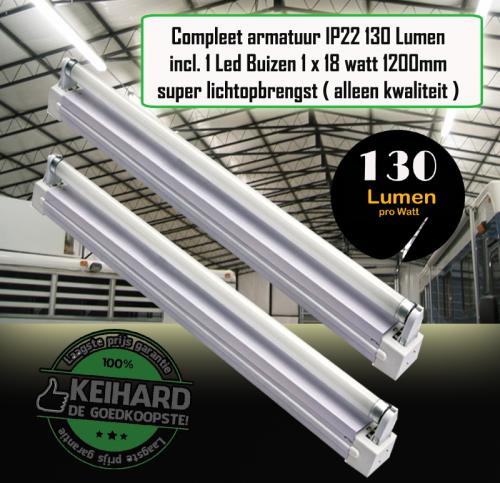 Led Buis T8 Compleet Met Armatuur 120cm-18W-ALU - 7810-sll-tl-18w-arm-compleet-alu
