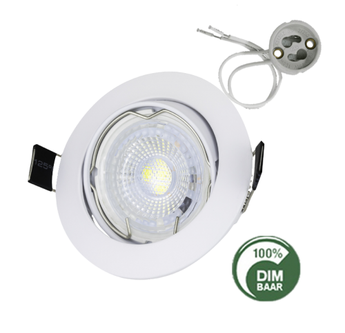 Led Spotlight Inbouw 7.5 Watt GU10 Wit-Dim - 6358-sll-led spotjes compleet cct