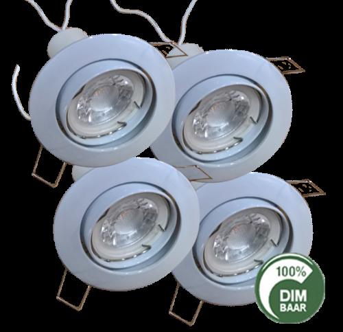 Led Spotlight 3.5 Watt GU10 Ø86 Inbouw Ø72-74 - 6356-led spotlight 3.5 watt gu10