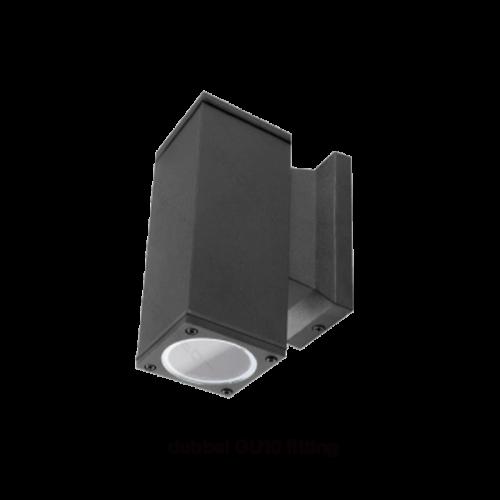 LED WANDLAMP UP-down 2 x GU10 zwart - 9659-swinckels-walllamp
