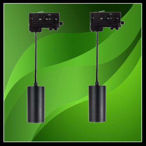 LED HANGLAMP VOOR TRACKRAILS 3 FASE GU10 FITTING - 6470-sll-hanglamp voor trackrails 3 fase
