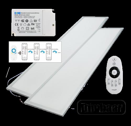 LED PANEL 40 WATT 295 X 1195 MM  RF Dimbaar - 5034-sll-pan-dim-euchips-milight