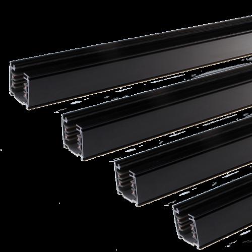 SLL-TRACKLIGHT RAIL 3 FASE 3 METER-ZWART 4 WIRE  - 7426-ssb300-zwart