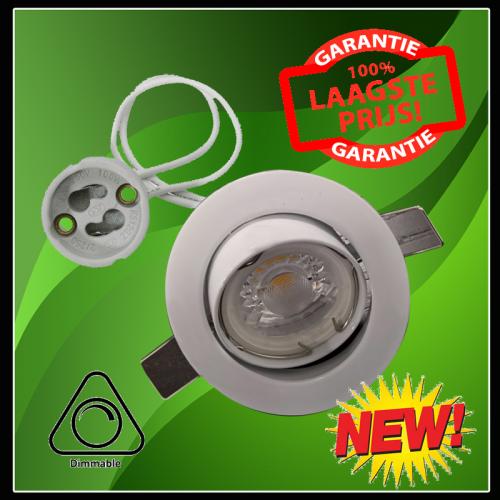 Led Spotlight COB 5 Watt gu10 COMPLEET-dim - 6361-led spotlight 5 watt dimbaar