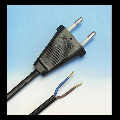 LED EURO KABEL 220V EURO 2.0 METER ZWART - 8358-euro-220v-2m-zwart