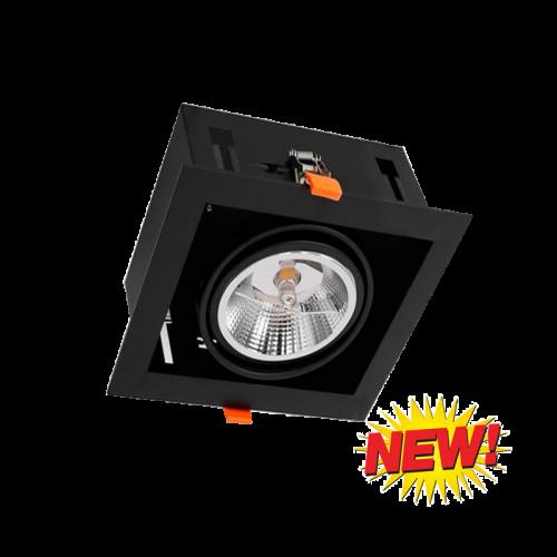 LED AR111 INBOUW MET GU10 FITTING-COMPLEET - 6485-sll-inbouw-vierkant-1