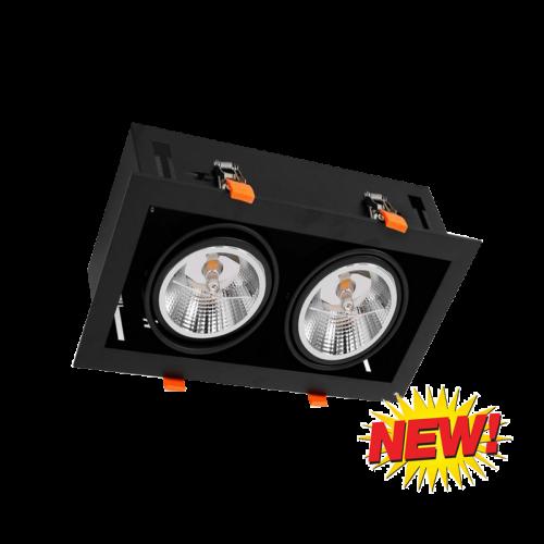 LED AR111 INBOUW MET GU10 FITTING-COMPLEET - 6486-sll-inbouw-vierkant-2