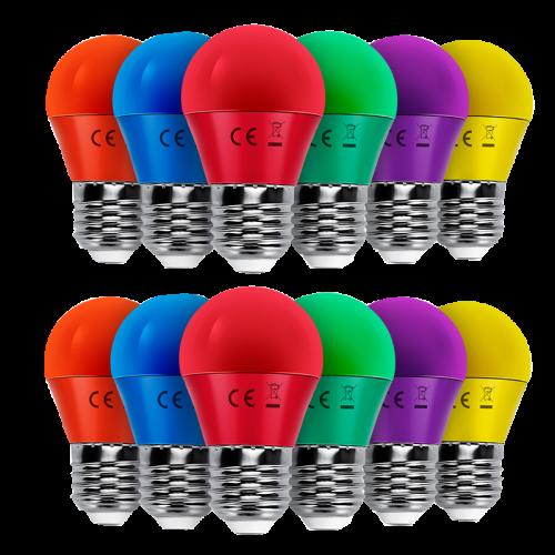 Led Lamp E27-E14 gekleurd  - 6466-led e27-e14 gekleurd
