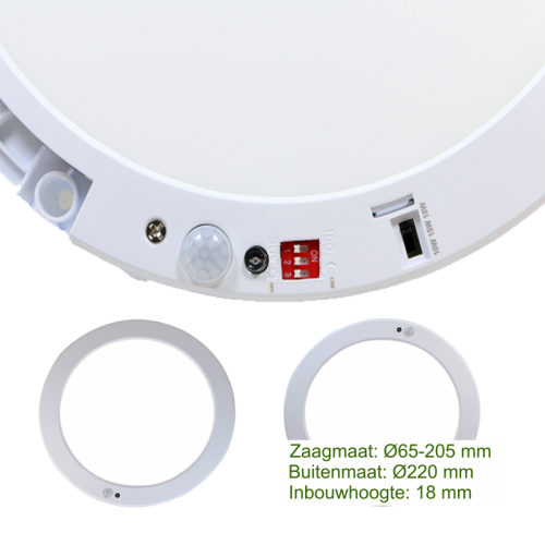 LED IN- EN OPBOUW DOWNLIGHT - 5180-sll-sensor