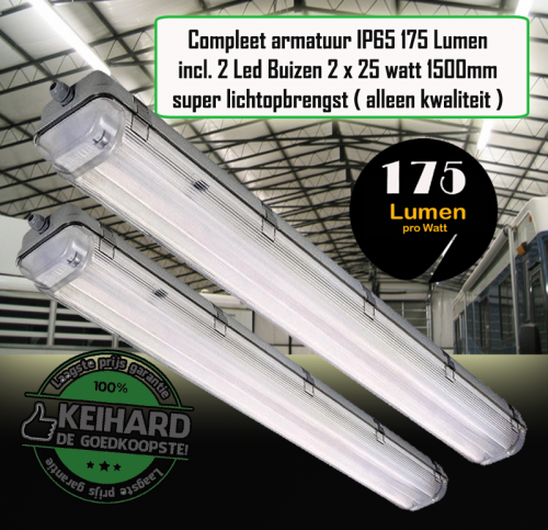 LED TL ARMATUUR IP65 175LM 1.5M INCL 2 BUIZEN - 7790-sll-led arm 175lm