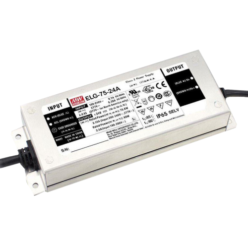 24V MEANWELL DRIVER IP65 75W ELG-75-24A-3Y - 8521-sll meanwell-75w-24a