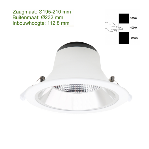 LED DOWNLIGHT REFLECTOR 15W 195MM - 3027-sll-led down-15w-195mm