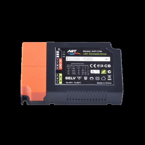 AGT TRIAC DIMBARE-DRIVER 1-10 VOLT-40W - 9213-lab040-agt triac dimbare driver