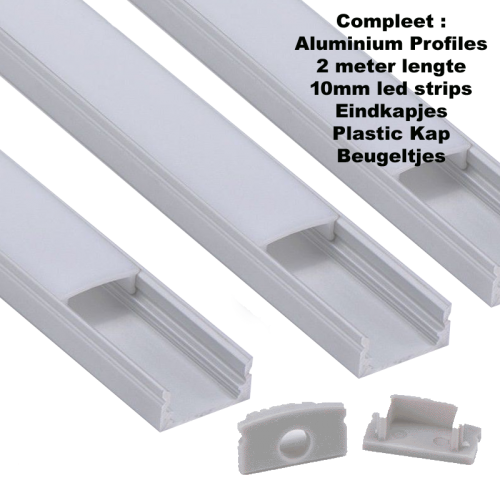 LED Aluminium Strip 2.0 meter 17mm - 8302-lab040-blls
