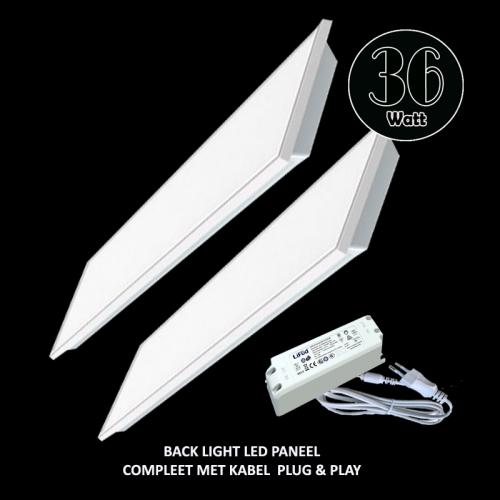 Led Paneel Backlight 295X1195mm- 3000 Kelvin - 5493-sll-295x1195mm-100lm