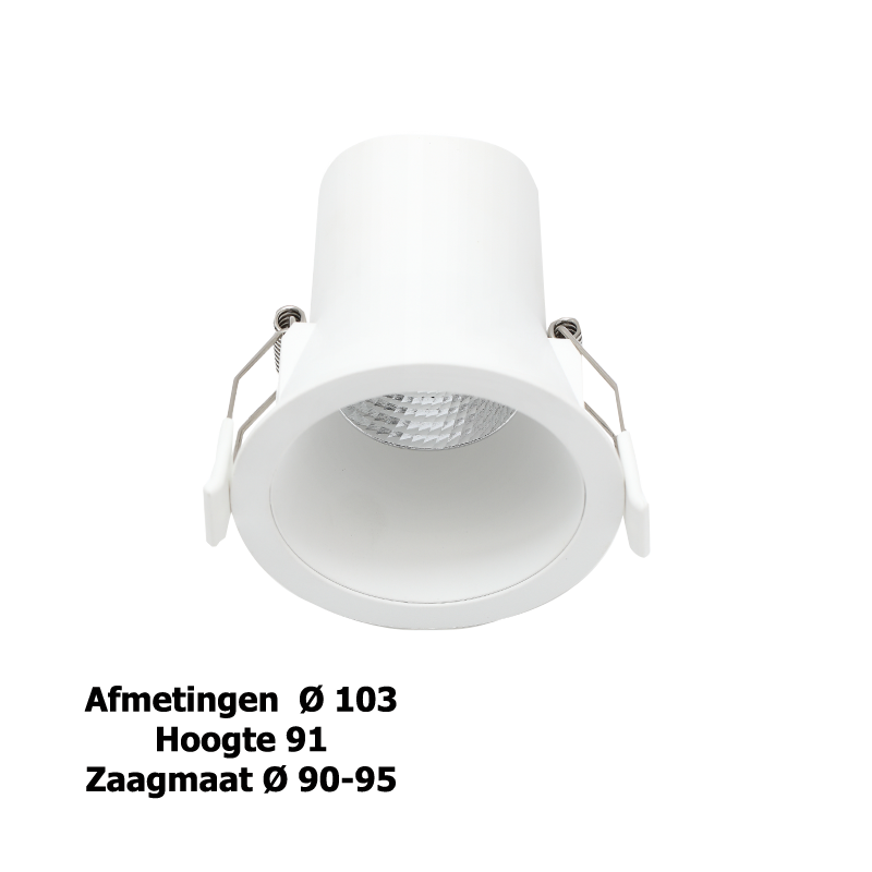 3104-led downlight 9w wit