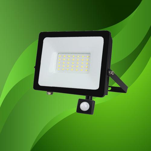 LED BREEDSTRALER MET SENSOR 120° IP65 30W - 7012-sll-breedstraler 30w