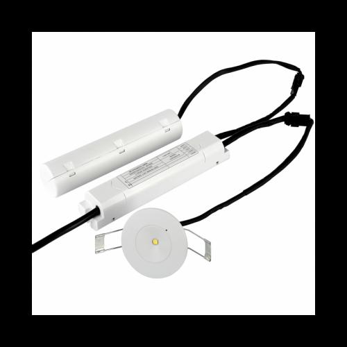 NOODVERLICHTING SPOT INBOUW LED 3W BREDELENS - 9407-nood-brede lens