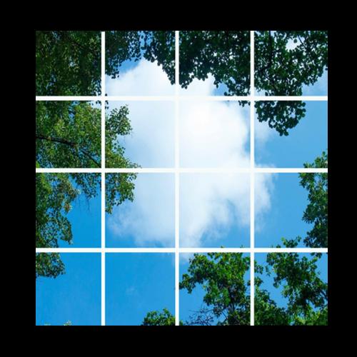 Led Wolkenplafond 16-Wolk-Bos - 5237-sll-wolk-16bos
