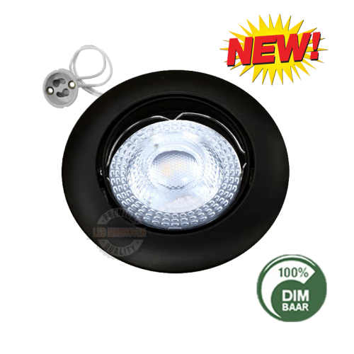 LED SPOTLIGHT INBOUW 5.5 WATT GU10 zwart - 6359-swinck-compleet zwart