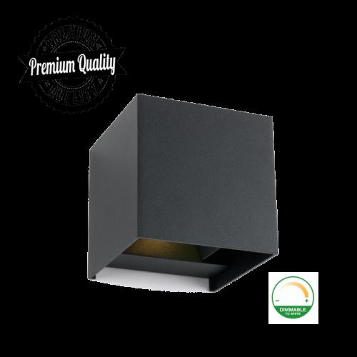 LED WANDARMATUUR VOOR GU10 ZWART - 9661-swinckels-cube 2x3 watt