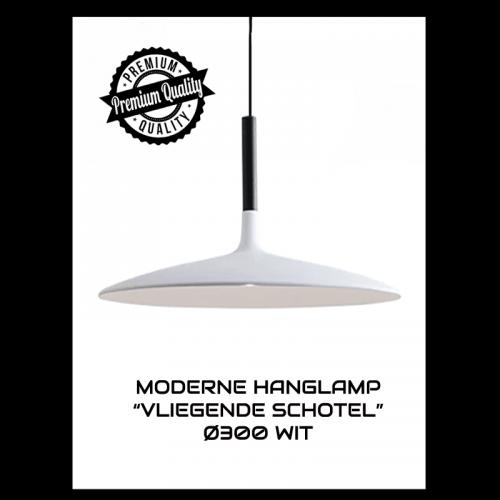 "MODERNE HANGLAMP ""VLIEGENDE SCHOTEL"" Ø350 WIT - 6561-swinckels-schotel 7 watt"
