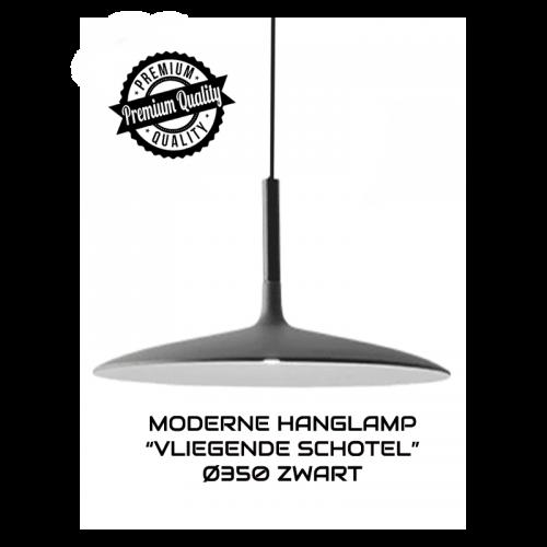 """MODERNE HANGLAMP """"VLIEGENDE SCHOTEL"""" Ø350 ZWART - 6566-swinckels-schotel zwart 350"""