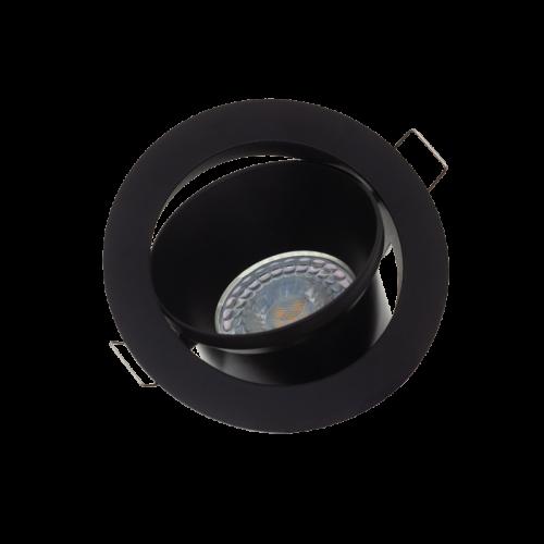 Led Spotlight Inbouw 5.5Watt GU10 Ø94-Ø82 - 6348-sll-inbouw compleet zwart