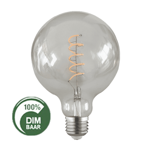 LED Filament -Ø 12,5 cm -E27-1x4W 2200K - Smoke - 6528-filement 4w smoke