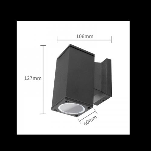 Wandlamp Black Body GU10 ZWART Enkel - 7101-wandlamp-gu10 black