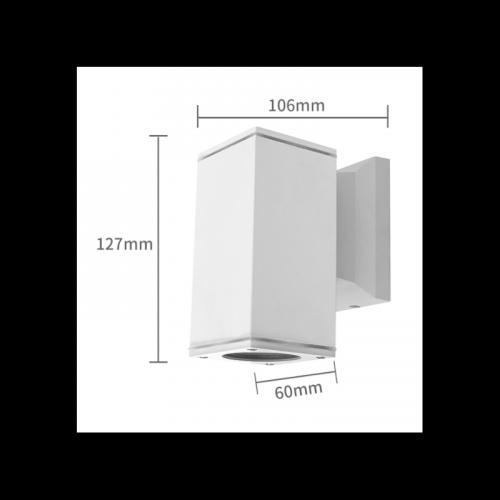 WANDLAMP white BODY GU10 WIT enkel - 7103-wandlamp-gu10 wit