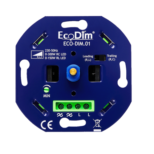 Led Eco Bright dimmer inbouw 0-150W, aan-afsnijding - 9311-eco-bright aan-afsnijding