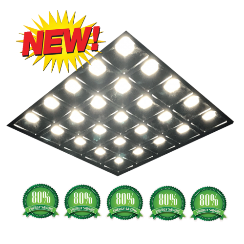 LED PANEEL GRILLE UGR13 595X595 zwart - 5093-sll-pam-ugr13 zwart 595x595