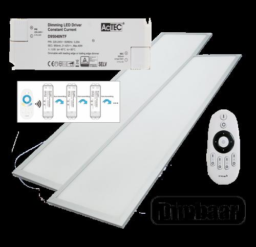 LED PANEL 40 WATT 295 X 1195 MM RF Dimbaar - 5035-sll-pan-dim-euchips-milight
