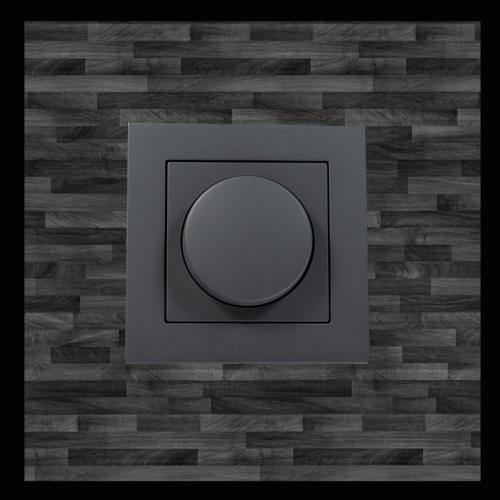 ENKELVOUDIGE DIMMER AFDEKPLAAT | MAT ANTRACIET  - 8731-afdekplaat zwart