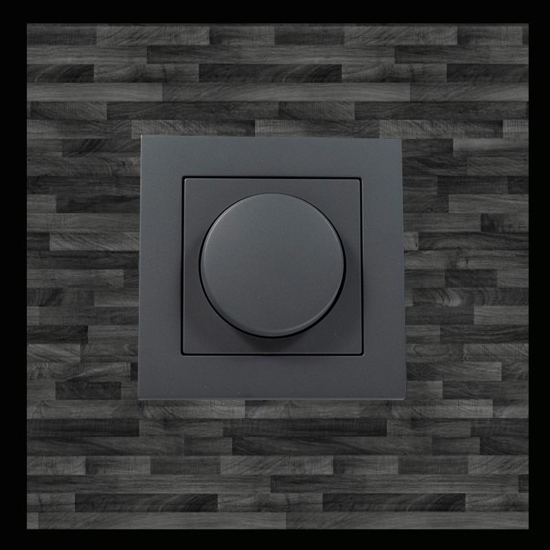 8731-afdekplaat zwart