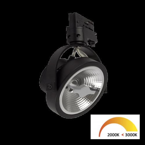 3-FASE RAILSPOT LEDTRACO 12W ZWART DIM2WARM - 7448-ar11-dim2warm