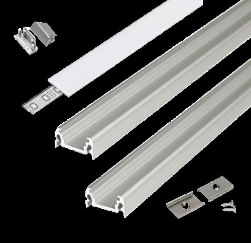LED Aluminium Strip 2.0 meter 17mm  - 8301-sll-profile-2m-17mm