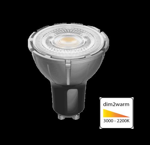 Led Spotlight 6 Watt GU10-dim to warm - 6317-sll-gu10-6w-dim-to-warm