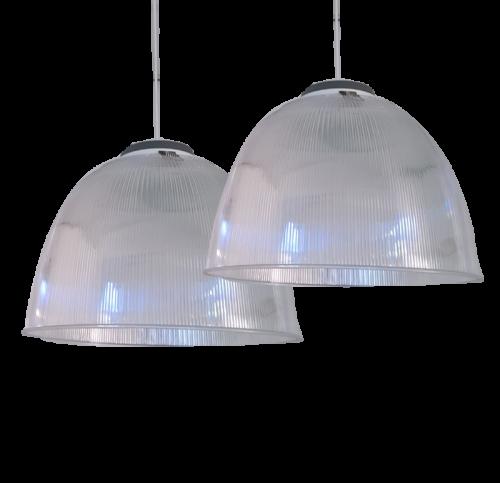 Hanglamp Industrial Design PVC met 3 Color Downlight 28 Watt - 8618-sll-hanglamp 28w-3 colors