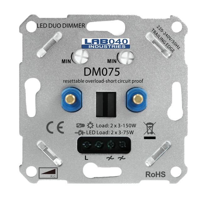 9204- sll-duo dimmer-2x 3-175w 4012096003588