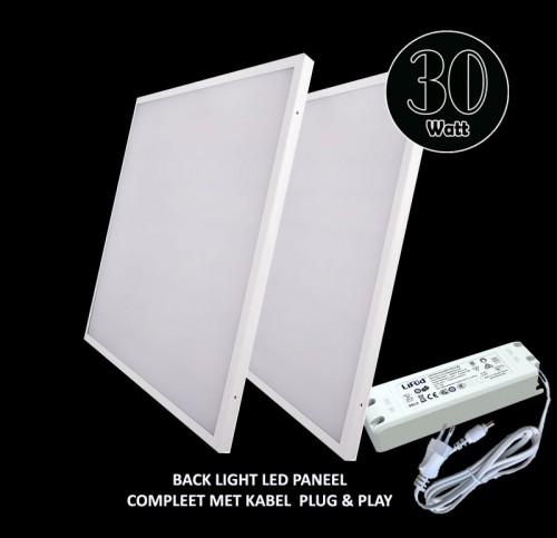 Led Paneel Backlight-595x595 30W-130LM PREMIUM - 5511-sll-ba-30w-130lm